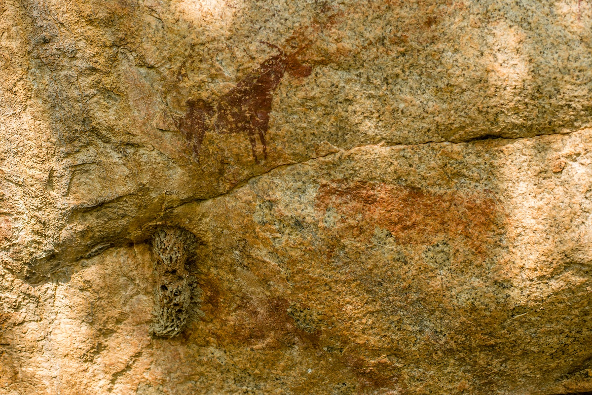 The area has many well-preserved Bushman paintings